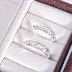 Nhẫn Knotted Love Band Silver Couple H.A.S