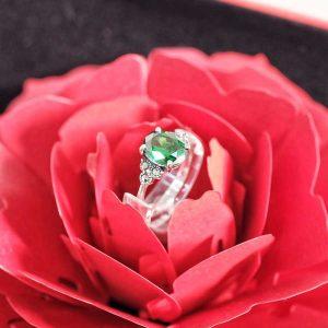 Nhẫn Đá Emerald Silver H.A.S