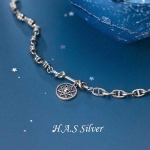 Lắc Tay Star Devid Thailand H.A.S Silver